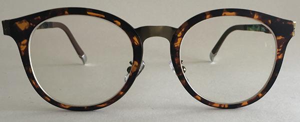 retro round eyeglasses front