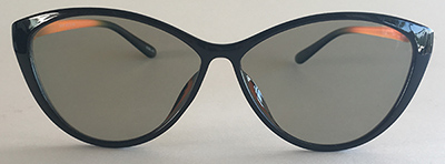 Cateye sunglasses front view