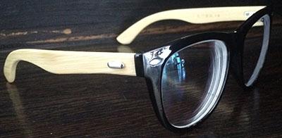 Black Wayfarer Eyeglass frames side view