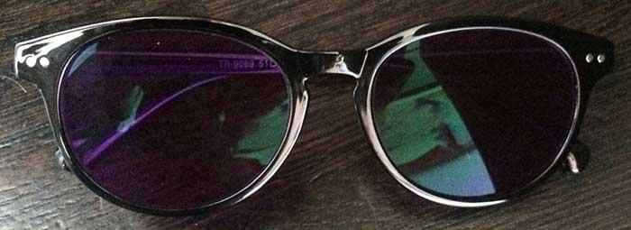 Tinted retro eyeglasses