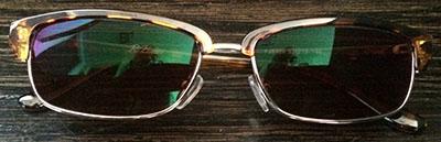 Browline Trendy Prescription Glasses front view