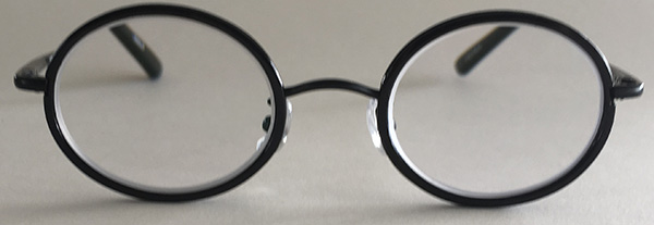 round black glasses front view