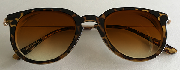 Tinted Classic round eyeglasses front view
