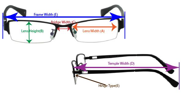frame measurement guide diagram