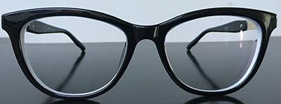 Black cateye frames front