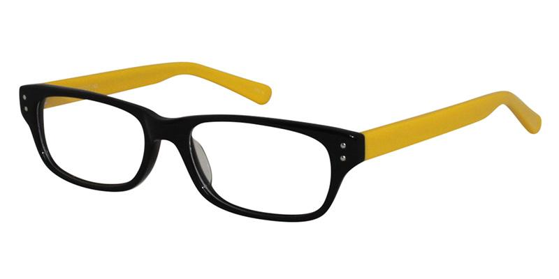 Bright yellow prescription eyeglasses